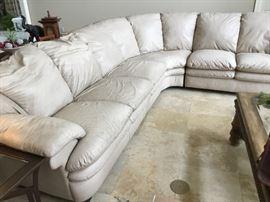 Natuzzi sectional leather sofa