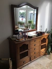 Teak from Thailand sideboard and mirror