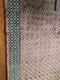 Wool semi antique rug
