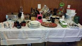 Dishes, silverware - etc