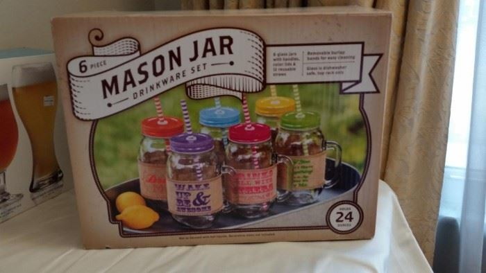 New in box Mason Jar glasses