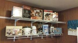 New in box - food processor, ice grinder, pictures, Cardinals toaster, drink maker - also a crock pot & Oster blender
