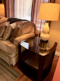 Pair end tables & lamps
