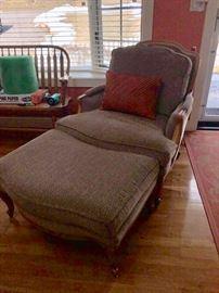 Coordinating chair & ottoman