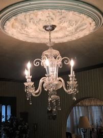 Breathtaking vintage crystal chandelier.  This item will not follow 3 day sale pricing!