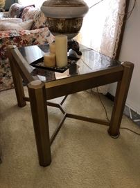 Glass/brass end table