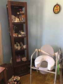 Open shelving unit and medical supplies