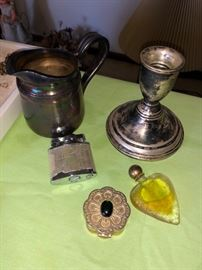 Sterling silver candlestick holder