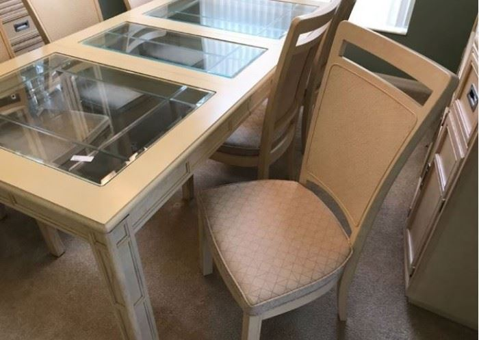 JUST REDUCED TO $100.  Long dining room table and chairs (6).  Price will not drop any lower.                                                                                                                                                                                                                                                          All items MUST be picked up on March 21st or 22nd only.  If you are unable to do this please email rcullen@virtualparalegalny.com PRIOR to purchasing. Sale has a house full of items available for sale, you are welcome to shop when you pick up your purchased items.  Lots of home decor, 2 closets FULL of ladies clothes and shoes, all like new and name brand, garage stuff, kitchen stuff etc.                                                                                                          GREAT PRICES!