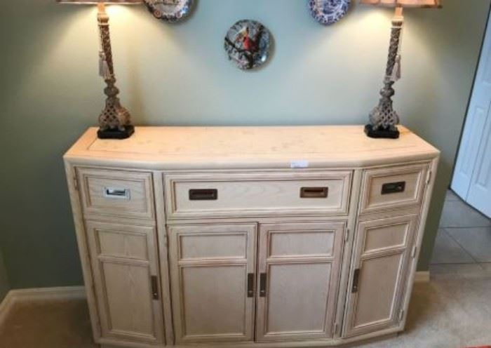 $100. Large buffet sideboard (photo 2) All items MUST be picked up on March 21st or 22nd only.  If you are unable to do this please email rcullen@virtualparalegalny.com PRIOR to purchasing. Sale has a house full of items available for sale, you are welcome to shop when you pick up your purchased items.  Lots of home decor, 2 closets FULL of ladies clothes and shoes, all like new and name brand, garage stuff, kitchen stuff etc. GREAT PRICES!