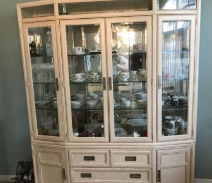 JUST REDUCED, NOW $100!  Hutch.   Excellent condition, looks new.  (Does not include items shown in the hutch.)    Price will not be further reduced.                                                                                                                                                                                                                                                  All items MUST be picked up on March 21st or 22nd only.  If you are unable to do this please email rcullen@virtualparalegalny.com PRIOR to purchasing. Sale has a house full of items available for sale, you are welcome to shop when you pick up your purchased items.  Lots of home decor, 2 closets FULL of ladies clothes and shoes, all like new and name brand, garage stuff, kitchen stuff etc.                                                                                                          GREAT PRICES!