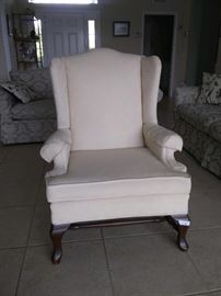 $50.  Living room chair.  All items MUST be picked up on March 21st or 22nd only.  If you are unable to do this please email rcullen@virtualparalegalny.com PRIOR to purchasing. Sale has a house full of items available for sale, you are welcome to shop when you pick up your purchased items.  Lots of home decor, 2 closets FULL of ladies clothes and shoes, all like new and name brand, garage stuff, kitchen stuff etc. GREAT PRICES!