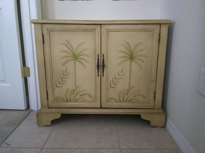 """JUST REDUCED to $50.  Palm cabinet.  15"""" x 36"""".                                                                                                                                                                                                              All items MUST be picked up on March 21st or 22nd only.  If you are unable to do this please email rcullen@virtualparalegalny.com PRIOR to purchasing. Sale has a house full of items available for sale, you are welcome to shop when you pick up your purchased items.  Lots of home decor, 2 closets FULL of ladies clothes and shoes, all like new and name brand, garage stuff, kitchen stuff etc. GREAT PRICES!"""