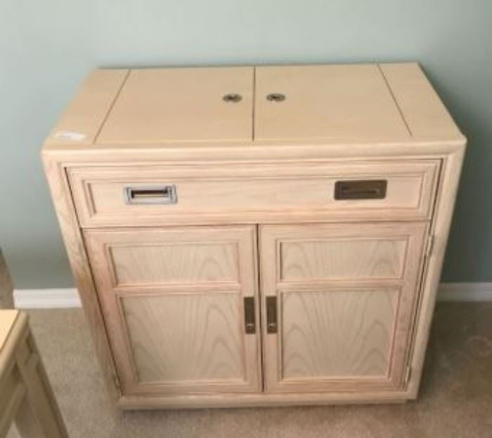 $50.  Small buffet or sideboard.   All items MUST be picked up on March 21st or 22nd only.  If you are unable to do this please email rcullen@virtualparalegalny.com PRIOR to purchasing. Sale has a house full of items available for sale, you are welcome to shop when you pick up your purchased items.  Lots of home decor, 2 closets FULL of ladies clothes and shoes, all like new and name brand, garage stuff, kitchen stuff etc. GREAT PRICES!