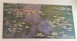 "$45.  Monet ""water lillies"" art from the Metropolitan Museum of Art.  All items MUST be picked up on March 21st or 22nd only. If you are unable to do this please email rcullen@virtualparalegalny.com PRIOR to purchasing. Sale has a house full of items available for sale, you are welcome to shop when you pick up your purchased items. Lots of home decor, 2 closets FULL of ladies clothes and shoes, all like new and name brand, garage stuff, kitchen stuff etc. GREAT PRICES!"