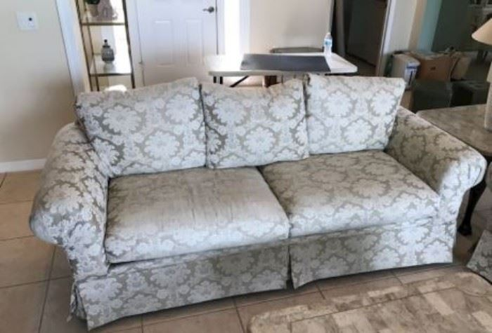 """$100.  Couch... excellent condition.  Comfy!  86"""" x 37""""                                                                                                            All items MUST be picked up on March 21st or 22nd only.  If you are unable to do this please email rcullen@virtualparalegalny.com PRIOR to purchasing. Sale has a house full of items available for sale, you are welcome to shop when you pick up your purchased items.  Lots of home decor, 2 closets FULL of ladies clothes and shoes, all like new and name brand, garage stuff, kitchen stuff etc. GREAT PRICES!"""