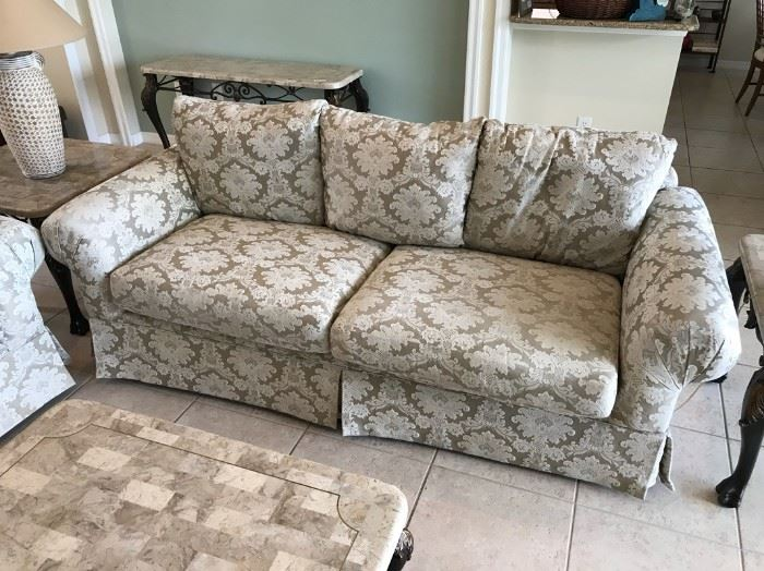 """$100 - Couch.  Excellent condition.  86"""" x 37""""                            All items MUST be picked up on March 21st or 22nd only.  If you are unable to do this please email rcullen@virtualparalegalny.com PRIOR to purchasing. Sale has a house full of items available for sale, you are welcome to shop when you pick up your purchased items.  Lots of home decor, 2 closets FULL of ladies clothes and shoes, all like new and name brand, garage stuff, kitchen stuff etc. GREAT PRICES!"""