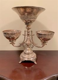 Victorian silver plate epergne