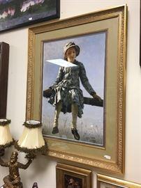 Framed copy of an original piece of artwork