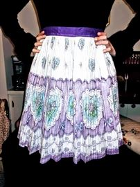 Vintage new still with tags pleated hostess apron.