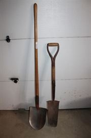 2 Shovels Round and Spade