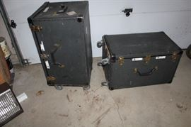 2 Trunks on Carts Exhibition Convention Boxes