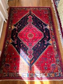 """88. Persian Hamedan Wool Rug c.1930's (4'5"""" x 6'10"""")"""