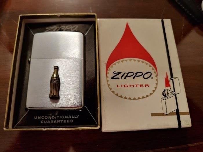 Mint in Box 1964 Coca Cola Zippo Lighter