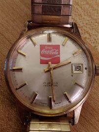 Vintage Enjoy Coca Cola Incabloc Watch