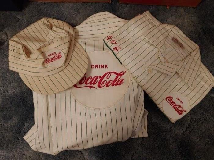Old Coca Cola Uniform Items