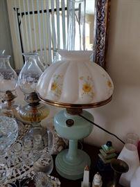 Jadite Aladdin Lamp
