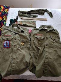 Vintage Local Boy Scout Uniform Items