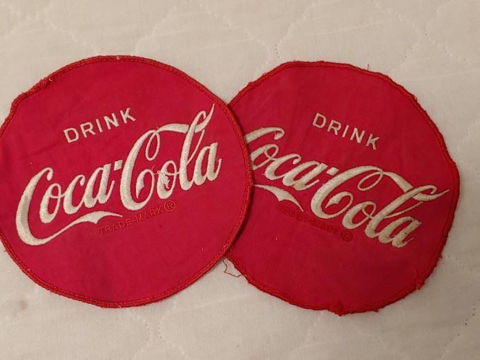 Large Coca Cola Uniform Jacket Patches