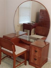 Waterfall Dresser with Mirror