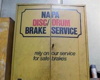 Metal NAPA Brake Cabinet