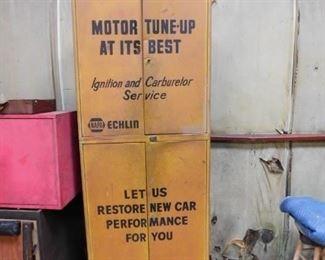 Vintage Metal NAPA Echlin Motor Tune-Up Cabinet