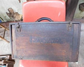 Old Black and Decker Driver in Wooden Carrying Case