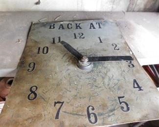 Shop Clock made from old Spark Plug Sign