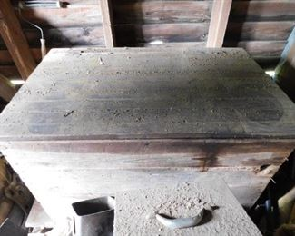 Primitive Wooden Feed Box
