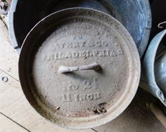 Early Cast Iron Pot Lid(Savery & Co.)