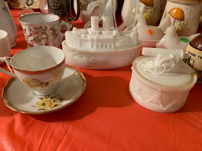 Milk Glass and misc. China and glassware