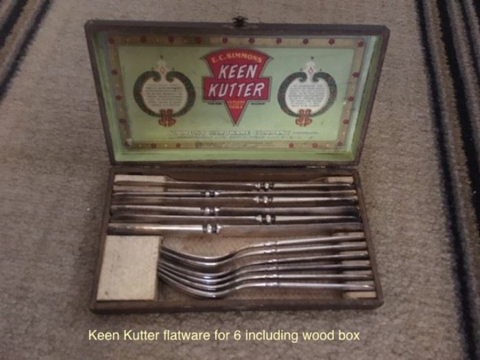 Keen Kutter service for six, original wood case