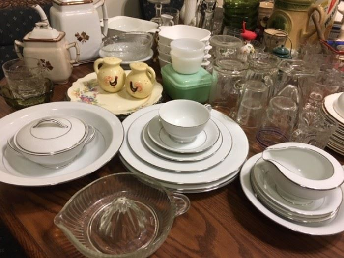 "Noritake China ""Whitehall"" includes several place settings and serving pieces"