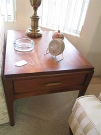 """2-Matching MCM End Tables by Lane, 27"""" X 21"""""""