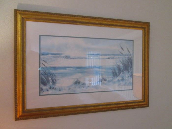 Large Selection of Framed Wall Art in Various Genres:   Street Scenes, Still Life, Water & Landscapes, Florals, All Beautifully Framed!
