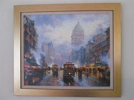 San Francisco Market Street by Thomas Kinkade, Ltd. Ed. Print 11/1875.  We have other Kinkade Framed Pieces for sale!