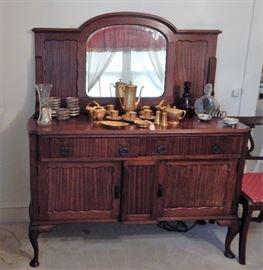 English mahogany sideboard/buffet