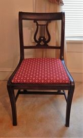 One of eight Thomasville harp/lyre chairs
