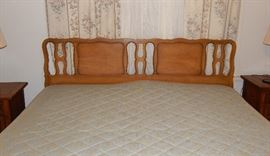 MCM king-size headboard and rails - We are not selling the mattress