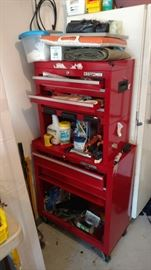 Craftsman tool box with tools inside